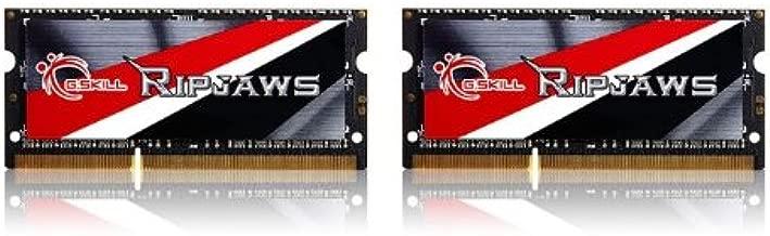 G.SKILL Ripjaws Series 16GB (2x8GB) 204-Pin DDR3 SO-DIMM DDR3L 1600 (PC3L 12800) Laptop Memory Model F3-1600C9D-16GRSL