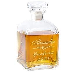 Geschenke 24: Whiskykaraffe Edel mit Gravur - personalisierte Whisky-Geschenke für Männer Papa von Sohn