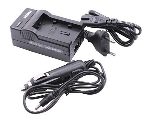 vhbw Cargador batería Compatible con JVC Everio GZ-MS215, GZ-MS215AEU, GZ-MS215BEU, GZ-MS215PEU baterías cámaras, videocámaras, DSLR -Soporte Carga