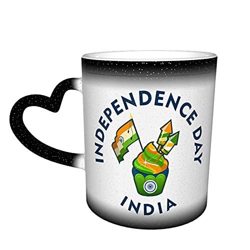 Independence Days (2) tazas de café, taza de té, taza de viaje, taza de cerámica termoensible que cambia de color