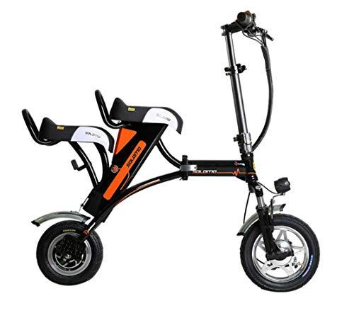 CYGGL Parent-Enfant Voiture Électrique Pliant Scooter Électrique Mini Vélo Électrique Batterie Au Lithium 36V12AH-Double Vitesse De Siège 20KM