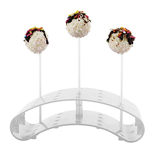 LZDseller01 Lollipop - Supporto per Lollipop Cake Pop, espositore/Hodler/Bases/Shelf Arc Shaped PS, Materiale per Foro da 3,5 mm, Trasparente, Taglia Unica