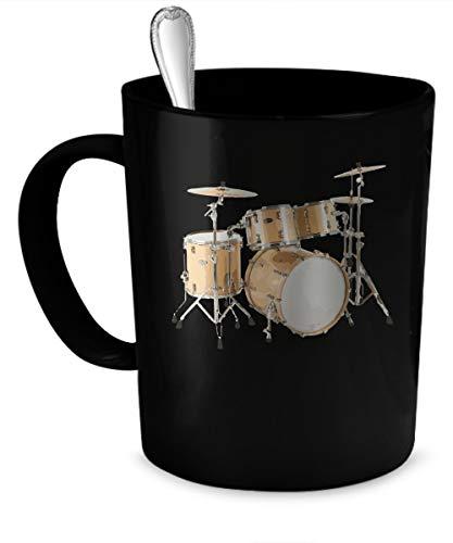 Schlagzeuger Kaffeetasse Schlagzeuger Geschenk 11 Unzen schwarz ^ A5