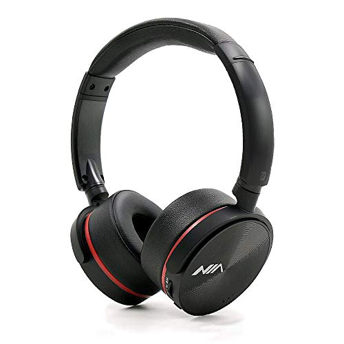 NIA Q6 High Definition FM Radio/MicroSD(TF) Card Mp3 Player Bluetooth Wireless On-Ear Headphones