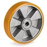 Polyurethan Rad 200 mm für Hubwagen mit Kugellager Bohrung 20 (200-20-50)