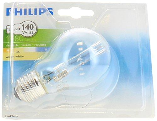 Philips Ampoule EcoHalogène Standard Culot E27 105 Watts consommés Equivalence incandescence : 140W