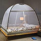 Mosquiteros pop-up, mosquiteros de cama plegable, cama de camping al aire libre, fácil de instalar, cama de 1,2 m (4 pies) de madera, apto para viajes, camping, dormitorio, malla fina transpirable