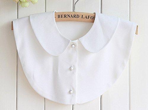 Yulakes Fashion Doll Kragen Vintage Elegante Damenhalb Fälschungs-Kragen Fake Hemd Bluse Kragen Weiß Abnehmbare Hälfte Hemd (style 1)