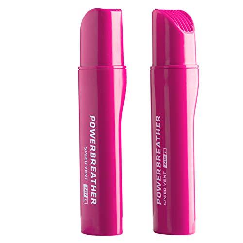 POWERBREATHER Speed Vent Easy L (Pink) - 13,7cm Langer Ventilaufsatz für AMEO Schnorchelset für Freiwasser, Welle, Schnorcheln (Zubehör - Immer frische Luft durch patentierte Ventiltechnik)