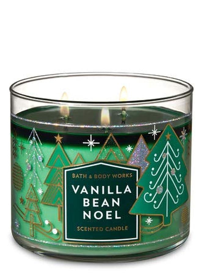 百万金額機械的【Bath&Body Works/バス&ボディワークス】 アロマキャンドル バニラビーンノエル 3-Wick Scented Candle Vanilla Bean Noel 14.5oz/411g [並行輸入品]