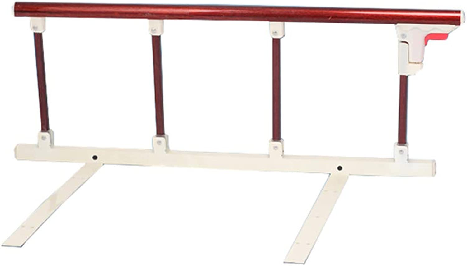 Bed Guardrail Folding Bed Guardrail for Elderly, Anti-Fall Bed Side Guard for Hospital Adults Assist, Medical Handicap Railing Bumper Bar Baffle (Size   Punch Free)