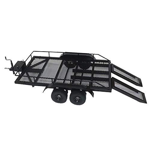 AFfeco RC Zubehör, 1/10 Metall Schwerlastwagen PKW Anhänger für 1/10 1/8 Crawler Modifikation