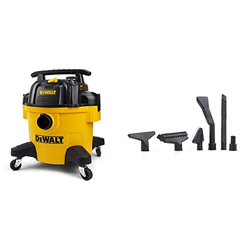 DEWALT 6 Gallon Poly Wet/Dry Vacuum With Accessories