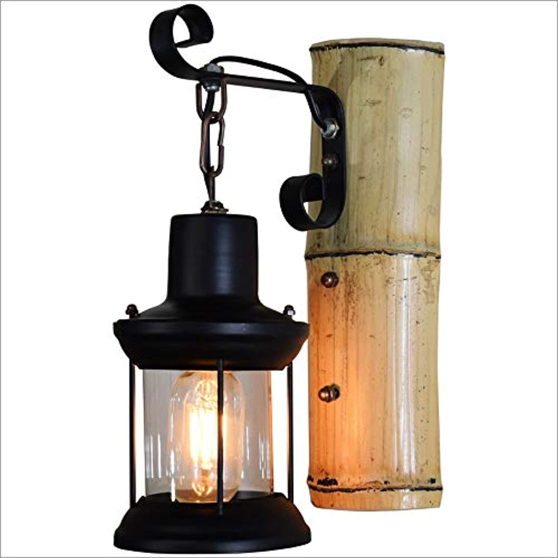 Amerikanische Eisen Wandlampen, Vintage Kreative LED Bambus Glas Beleuchtung Dekorative Hngelampe Wandleuchte Antike Schlafzimmer Wohnzimmer Esstisch Wandleuchten (Farbe   A)
