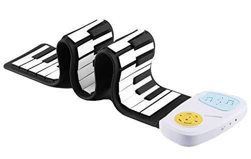 Icegrey Tragbar Elektronische Klavier Tastatur aus Silikon mit 49 Tasten Schwarz und weiß Einheitsgröße