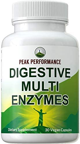 Digestive Enzymes Vegan Supplement by Peak Performance Daily Essential Multi Enzyme Plant Complex product image
