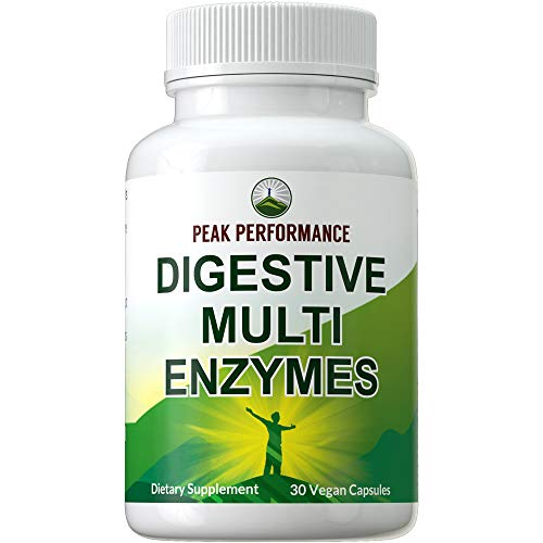 Digestive Enzymes Vegan Supplement by Peak Performance. Daily...