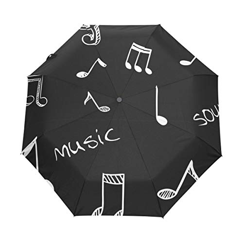DEZIRO Muziek Lyric drievoudig Outdoor?Paraplu?auto open Winddicht Waterdicht