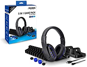 Playstation 4 accessories Set 5-in-1 with Headphones and controller charger