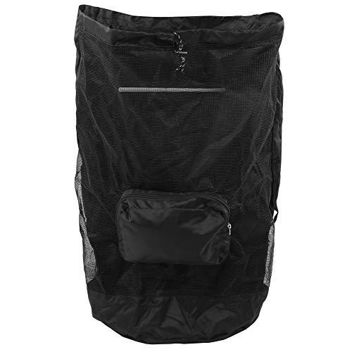 Keenso Klapprucksack, 40L Outdoor-Rucksack, Klapp-Netzbeutel, sichtbare atmungsaktive Kordelzugtasche für Travel Beach, Urlaub, Ausflüge, Tageswanderungen, Schulen, Camping und Shopping