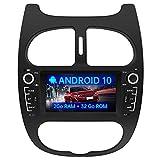 AWESAFE Autoradio pour Peugeot 206 2000-2008【2Go+32Go】 Autoradio Android 10.0 GPS Navigation avec WiFi/Écran Tactile HD/Commande au Volant/MirrorLink/Vue arrière de Recul/Appel Bluetooth/RDS/USB/FM