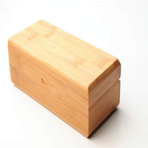 SENFEISM Caja de Almacenamiento de Gafas Organizador Caja de Gafas de Sol rectangulares de Moda Diseñador de la Marca Caja de Gafas de Sol de Madera de bambú Natural Hecha a Mano