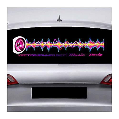 Auto Led-Rhythmuslampe Auto-Heckfenster-Musik-Rhythmuslampe, Auto-Innenmusikatmosphärenlampe, Musiksensor EL-Blatt Für Verschiedene Automodelle