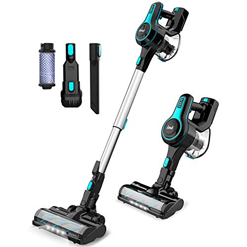 Cordless Vacuum Cleaner Lightweight Powerful Suction Stick Vacuum 1.2 L Large Dust Cup Handheld Vac for Cleaning Home Car Pet Hair Carpet Hard Floor...