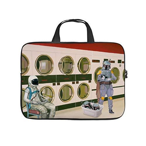 17inch Laptop Shoulder Messenger Bag, Laptop Case, at The Laundromat with Boba Fett, Laptop Shoulder Bag, Messenger Bag Case, Business/Office/Work Bag