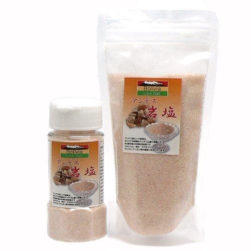 アンデス岩塩 ピンクソルトパウダー(食用)ボトル180g+詰替え用300g入