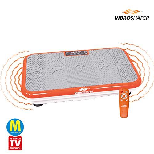 MediaShop VibroShaper – Fitness Vibrationsplatte unterstützt bei Muskelaufbau und Fettverbrennung – Vibrationstrainer für alle Muskelgruppen – inklusive Fitnessbänder – orange - 2