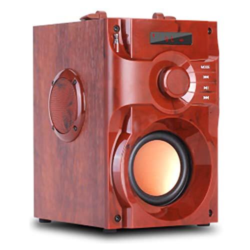 XWEM Altavoz Inalámbrico De Madera, Música De Sonido De Música Bluetooth Función De Memoria Pantalla Digital + Control Remoto Inteligente FM Estación De Radio Inicio Ponentes Portátiles