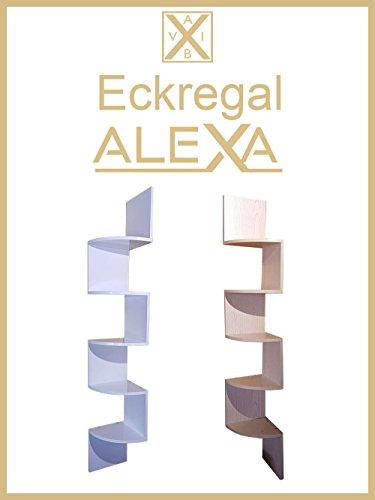 Eckregal Alexa - Eck-&Wandregal/Aufbewahrung/5 Ablagenfächer (Buche- Hell)