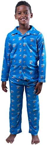 Ultra Game NBA Oklahoma City Thunder Youth 2 Piece Soft Tee Shirt Lounge Pants Sleepwear Loungewear product image