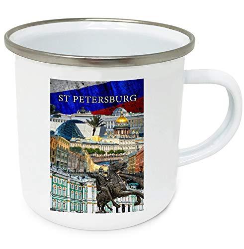St Petersburg Russia Souvenir - Taza de café (10 oz, esmaltada, alta calidad)