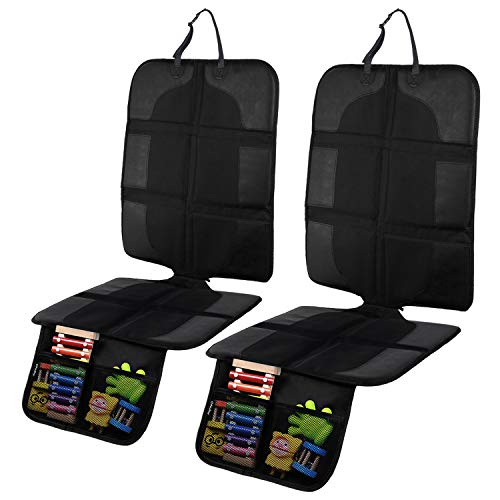 Car Seat Protector Under Car Seat 2 Pack, Ohuhu Non-Slip Car Seat Protector for Baby/Child Car Seat,...