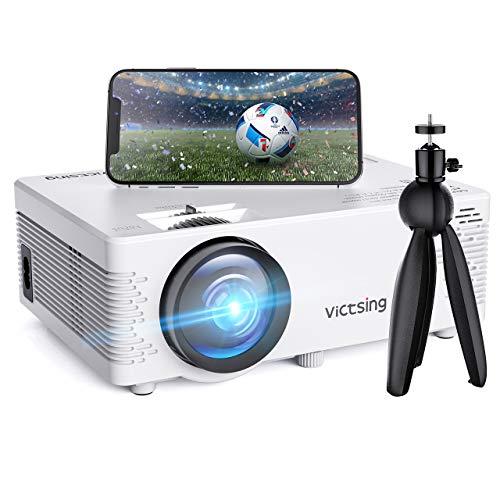 VicTsing Mini Videoproiettore Portatile 4000 Lumen Full HD 1080P Wifi (Bianco Wifi)