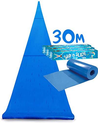 Official Maxi Giant Slip and Slide XXXXXL | 30 Meters Glide | Triple | Premium Quality Sliding Mat | Fastest Slip'n Slide | Strongest Water Slide | Outdoor Water Sport | Game | 100% Fun | OriginalCup®