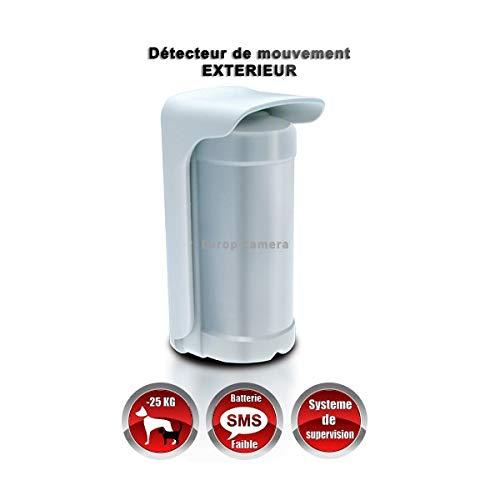 MFPROTECT Alarmsysteem – bewegingsmelder voor buiten, met lithium-accu, 20 kg, draadloos, 868 MHz, bidirectioneel