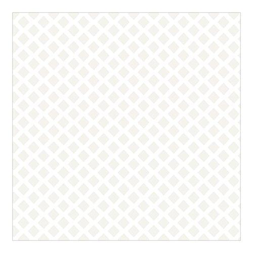 Vliestapete - Rautengitter hellbeige - Fototapete Quadrat 336 x 336cm