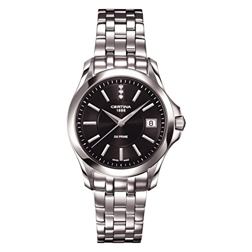 Certina C004.210.11.056.00 - Reloj para Mujeres, Correa de Acero Inoxidable Color Plateado