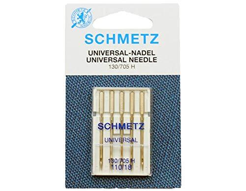 Schmetz–Agujas para máquina de coser (tamaño 110/18, 5agujas
