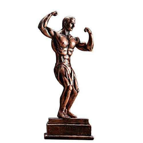 LH Zhenzhi EIN Bodybuilder Skulptur Muskelmann Charakter Harz Kunsthandwerk Ornamente Amerikanische Retro Dekoration Bücherregal Bücherregal Weinkabinett Möbel