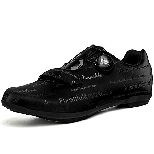 Men's Bicycle Power-Assisted Shoes, Cycling Shoes, Non-Locking Road and Mountain Bike Shoes Black