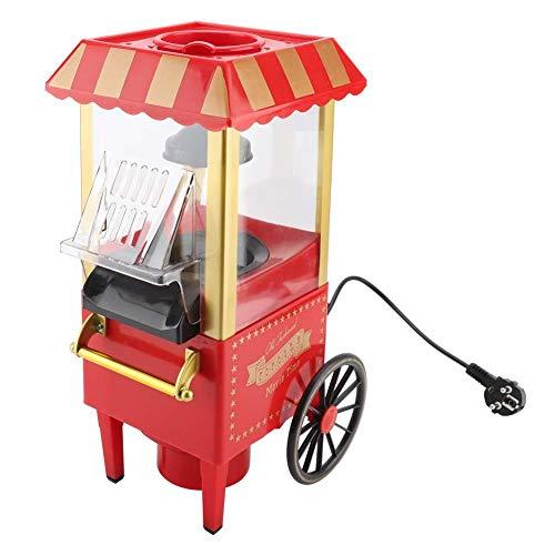 Jimfoty Heißluft-Popcorn-Popper, Berufs-Popcorn-Maschinen-kompakter elektrischer Popcorn-Wagen, der Mais-Maschine für Hauptparty herstellt