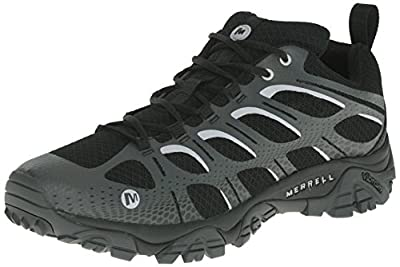 Merrell Men's Moab Edge Shoes, Black/Grey, 8 M US