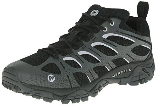Merrell MOAB EDGE, Chaussures de trekking et randonnée homme - Noir - Noir (noir/grey), 43 (pas résistant à l'eau)