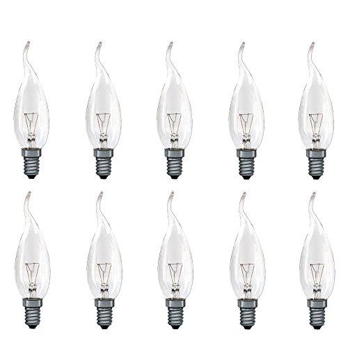 10 x Paulmann Kerze windstoß klar 40W E14 Cosylight Glühbirne Glühlampe Windstoßkerzen 513.40