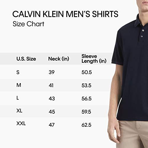 Calvin Klein Liquid Touch Polo uni avec protection UV pour homme - Noir - Taille L