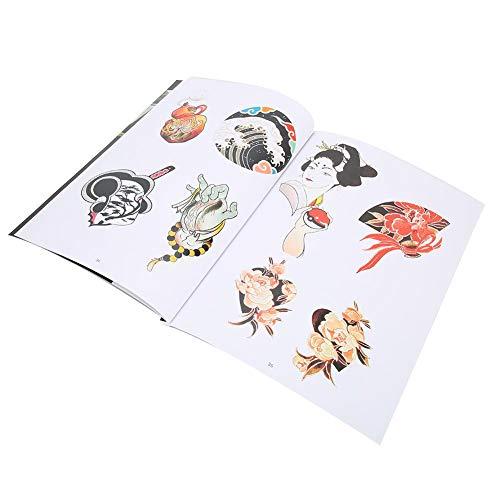 Exquis Motif Couleur Tatouage Livre Tatouage Pratique Modèle Livre Accessoire 64 Pages À Motifs Tatouage Temporaire Tatouages Pratique pour Débutant Éléments Japonais